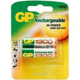 Батарейку, аккумулятор (AA/AAA/C/D) GP Batteries AA 1300mAh NiMh 2шт (130AAHC)