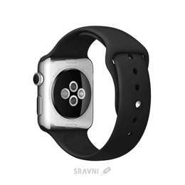 Ремешок для умных часов и спортивных браслетов Apple Black Sport Band for Watch 42mm (MJ4Q2)