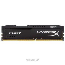 Модуль памяти для ПК и ноутбука Kingston 8GB DDR4 2400MHz HyperX Fury Black (HX424C15FB2/8)