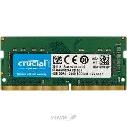 Модуль памяти для ПК и ноутбука Crucial 4GB SO-DIMM DDR4 2400MHz (CT4G4SFS824A)