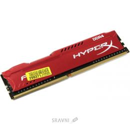 Модуль памяти для ПК и ноутбука Kingston 8GB DDR4 2666MHz HyperX Fury Red (HX426C16FR2/8)