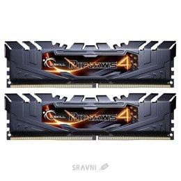 Модуль памяти для ПК и ноутбука G.skill  16GB (2x8GB) DDR4 3000MHz Ripjaws 4 Black (F4-3000C15D-16GRK)