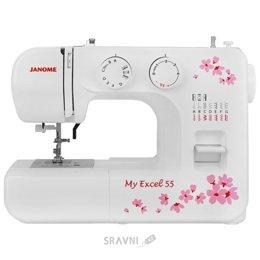 Швейную машинку и оверлоку Janome My Excel 55/MX 55