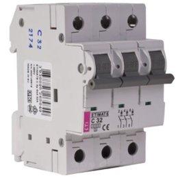Автоматический выключатель ETI ETIMAT 6 3p C 10A (2145514)