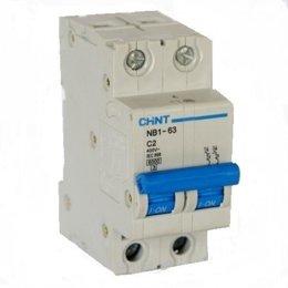 Автоматический выключатель Chint NB1-63 2P 6kA C 16A (179658)