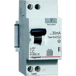 Автоматический выключатель Legrand RX3 1P+N С 20А 30mA AC (419400)