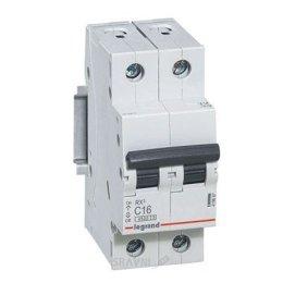 Автоматический выключатель Legrand C63 2Р 4.5 kA (419703)