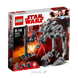 Конструктор детский LEGO Star Wars Вездеход AT-ST Первого Ордена 370 деталей (75201)