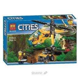 Конструктор детский Bela Citles Грузовой вертолёт исследователей джунглей (10709)