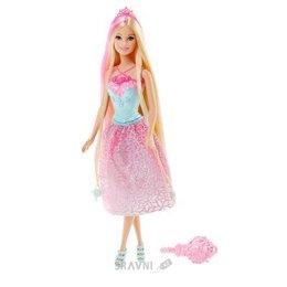 Куклу Mattel Принцесса Барби серии Сказочно-длинные волосы, Розовая (DKB60)