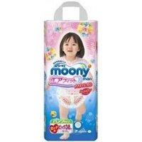 Moony Подгузники-трусики для девочек XL 12-17 кг (38 шт.)