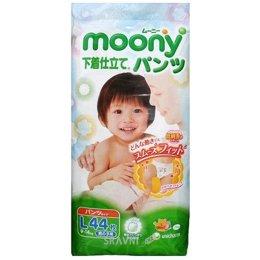 Подгузник Moony Подгузники-трусики для мальчиков L 9-14 кг (44 шт.)