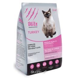 корм для кошек  Blitz Adult Cats Turkey (индейка) 2 кг