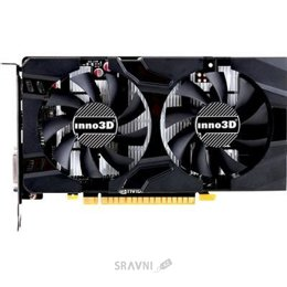 Видеокарту Inno3D GeForce GTX 1050 Ti Twin X2 4Gb (N105T-1DDV-M5CM)