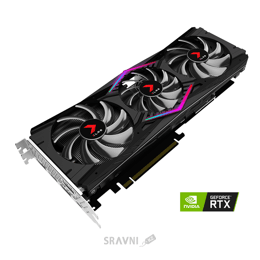 Видеокарту PNY GeForce RTX 2080 XLR8 OC Triple Fan 8GB (VCG20808TFPPB-O)