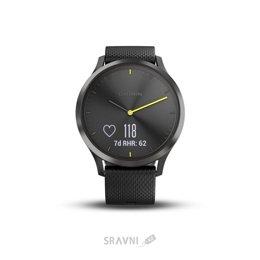Умные часы, браслет спортивный Garmin Vivomove HR Sport White Black (010-01850-21)
