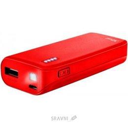 Внешний аккумулятор Trust Primo 4400 Matte Red (22136)